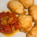 Fritos de Pixin con pimientos rojos