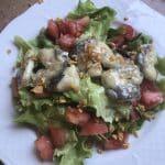 Ensalada templada de kokotxas con ligero pil pil