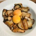 Boletus plancha y yema de huevo
