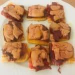 Tosta de ibérico y foie